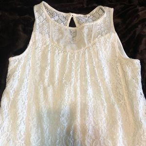 Dresses & Skirts - White lace dress- casual